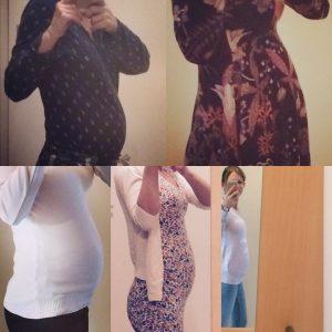 10 Wochen Babybauch - 22 SSW bis 32 SSW
